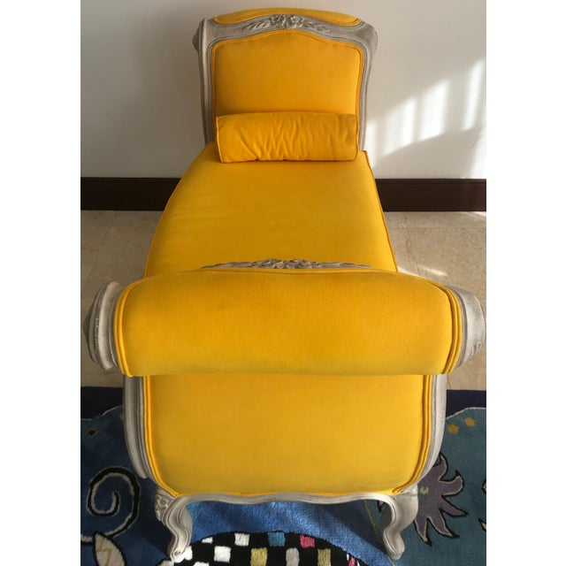 1900s Canary Yellow French Settee For Sale - Image 10 of 13