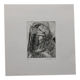 Portrait, Etching & Aquatint by Jon Fasenelli-Cawelti, 1982 For Sale