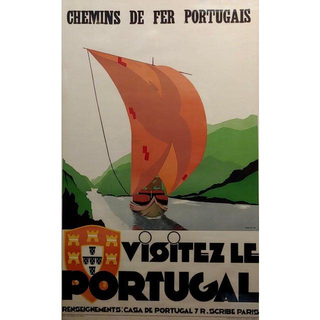 Visitez Le Portugal -1937 original Art Deco French advertising poster. Visiting Portugal - Original 1937 vintage travel...