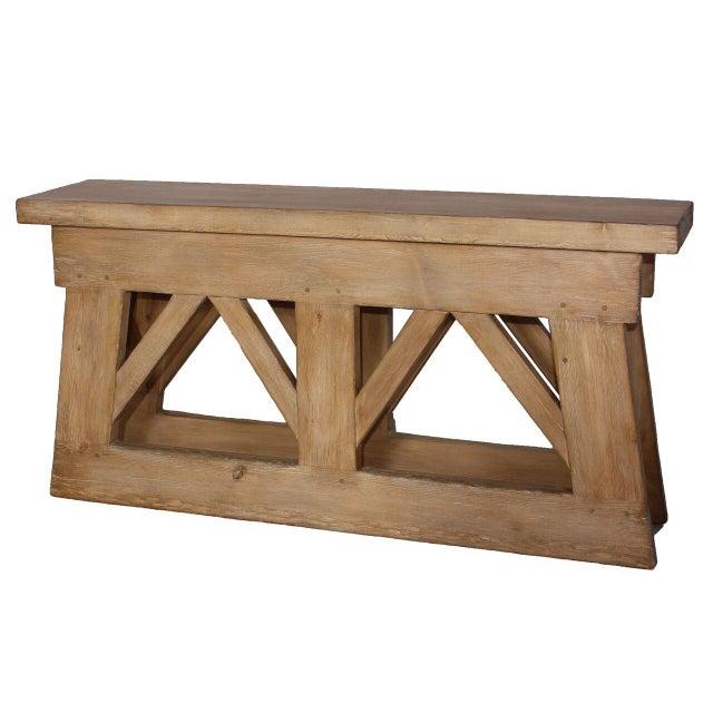 Sarreid LTD Rustic Bridge Console Table - Image 1 of 3
