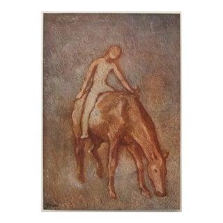 Original 1948 Picasso Jeune Garçon Nu à Cheval Lithograph For Sale