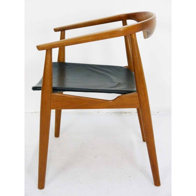 Danish Modern Teak Barrel Arm Chair - Image 7 of 10