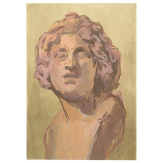 Neoclassical Bust Painting For Sale