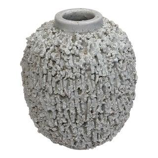 Gray Ceramic Hedgehog Vessel