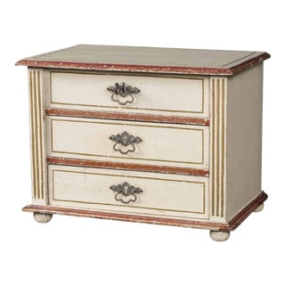 19th Century Antique French Miniature Sample Painted Chest of Drawers For Sale