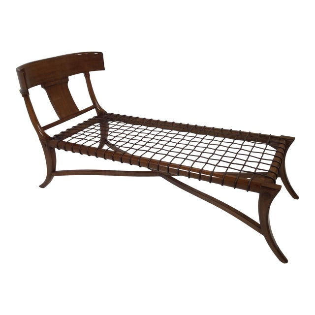 Mid Century Modern Style Klismos Chaise Lounge For Sale