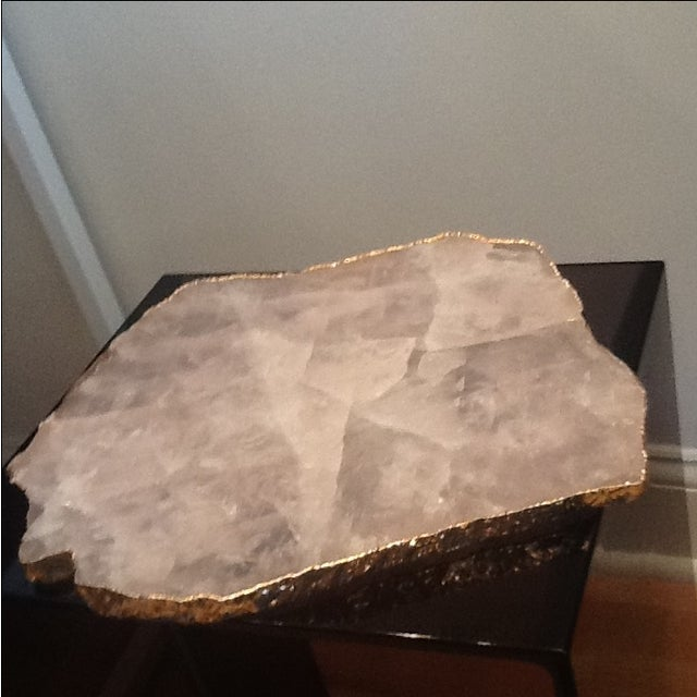 Rablabs Rose Quartz Serving Tray For Sale - Image 4 of 4