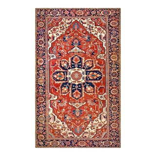 Late 19th Century Antique Serapi Rug - 12′4″ × 20′ For Sale