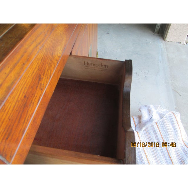 Henredon Campaign Buffet Server For Sale - Image 6 of 8