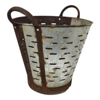 Antique Turkish Olive Bucket | Two Finishes