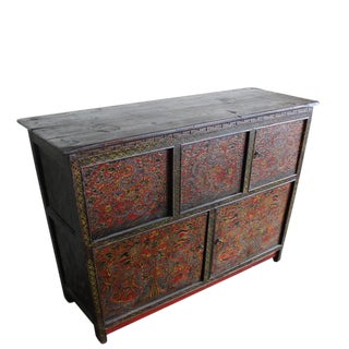 Embossed Flying Dragons Tibetan Cabinet For Sale