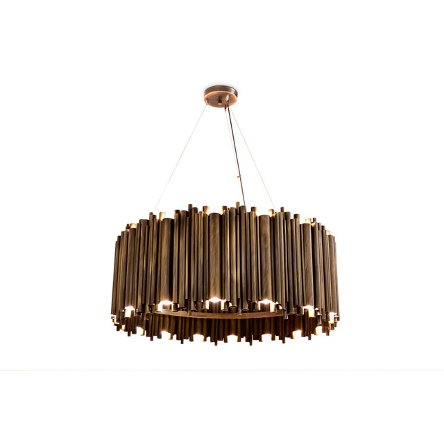 Gold Brubeck Oval Chandelier From Covet Paris For Sale - Image 8 of 11
