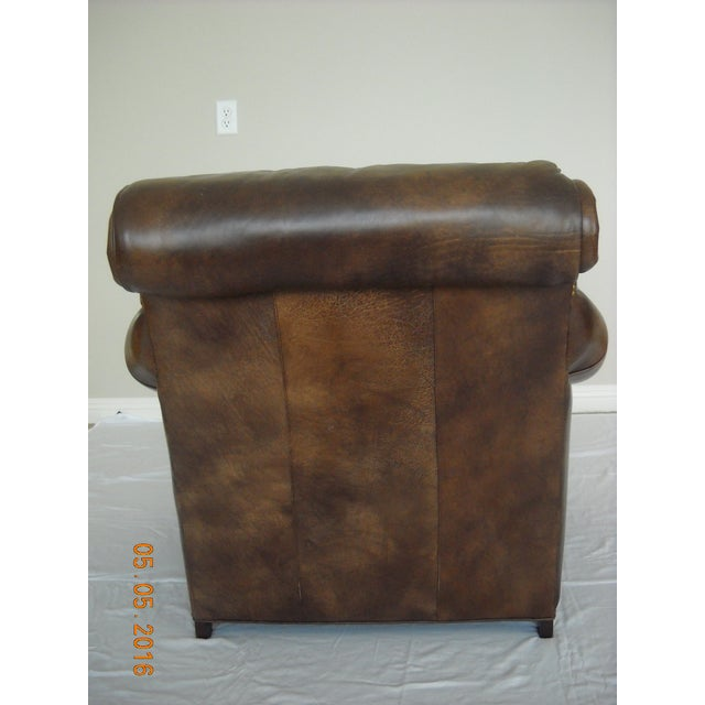 Custom Leather Chairs by Hancock & Moore - A Pair - Image 5 of 10