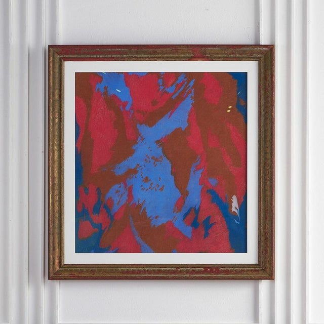 Blue Colorful Chalk Pastel Abstract by Oscar Murillo For Sale - Image 8 of 8