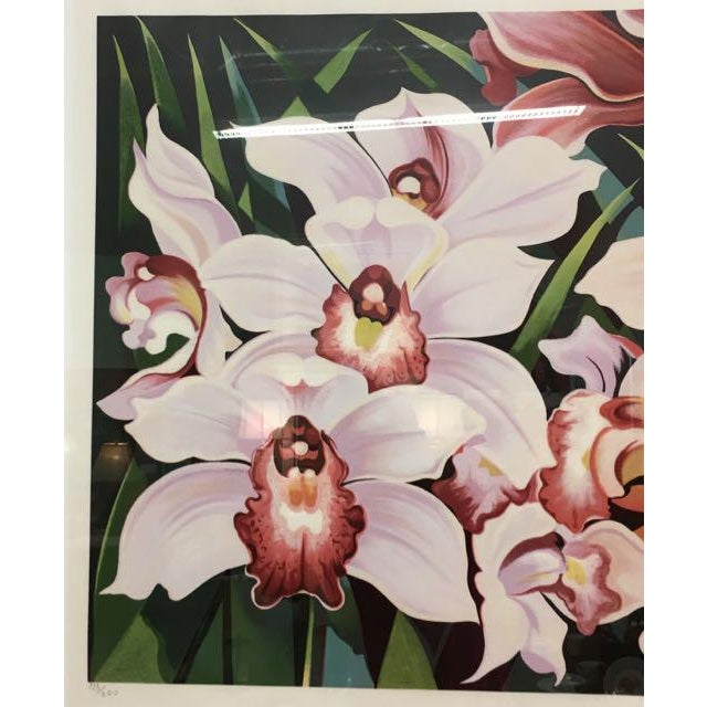 """Lowell Nesbitt 1981 Serigraph """"Cattleya Orchids"""" by Lowell Nesbitt For Sale - Image 4 of 7"""