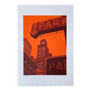 "Pop Art Serigraph by Hiroshi Ariyama, 'Wabash and Randolph"" For Sale"