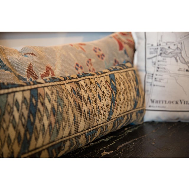 Reclaimed Vintage Caucasian Rug Lumbar Pillow For Sale In New York - Image 6 of 7