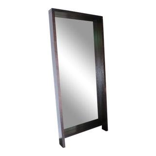 Large Framed Modern Black Wooden Mirror