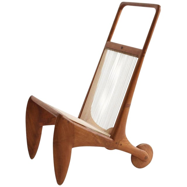 Allen Ditson One Off Walnut and Cord Magazine Holder For Sale