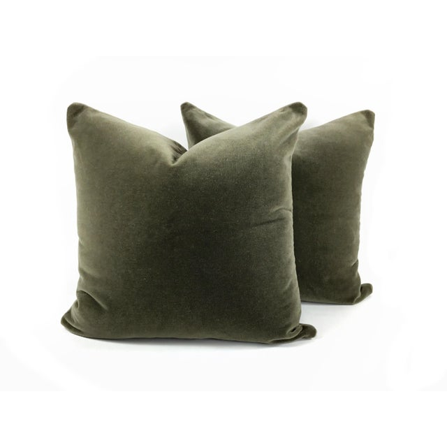 Art Deco Two-Sided Designer Mohair Pillows - a Pair For Sale In Los Angeles - Image 6 of 6