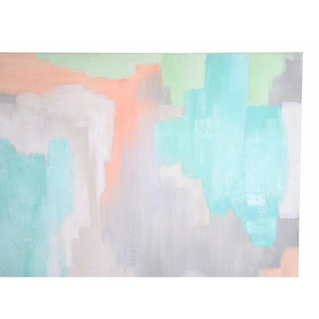 2010s Modern Pastel Abstract Expressionist Oil Painting Sarah Brooke Australian For Sale - Image 5 of 9