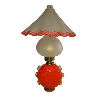 Vintage Three Piece Murano Table Lamp For Sale