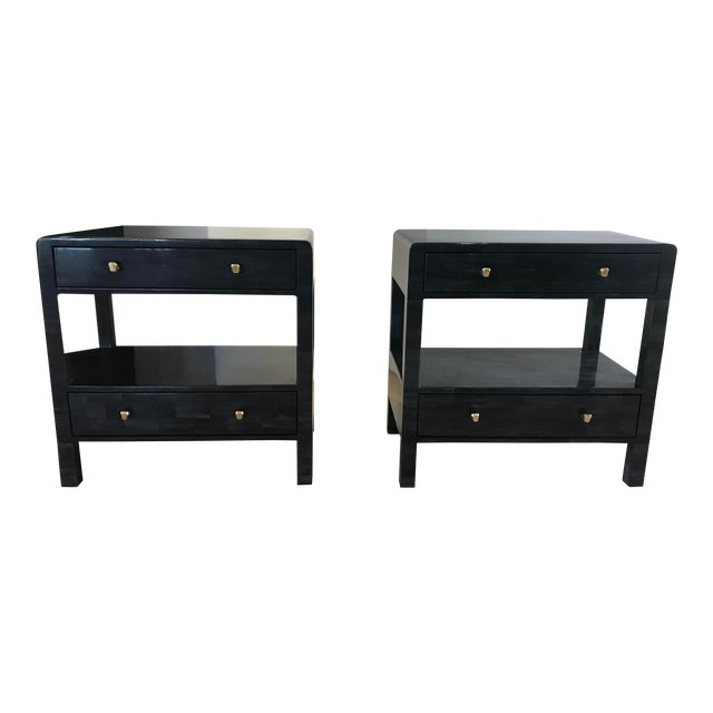 Yaren Double Faux Horn Nightstands-A Pair For Sale