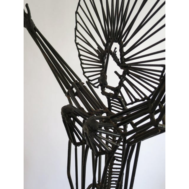 Mid-Century Abstract Figurative Metal Sculpture - Image 8 of 9