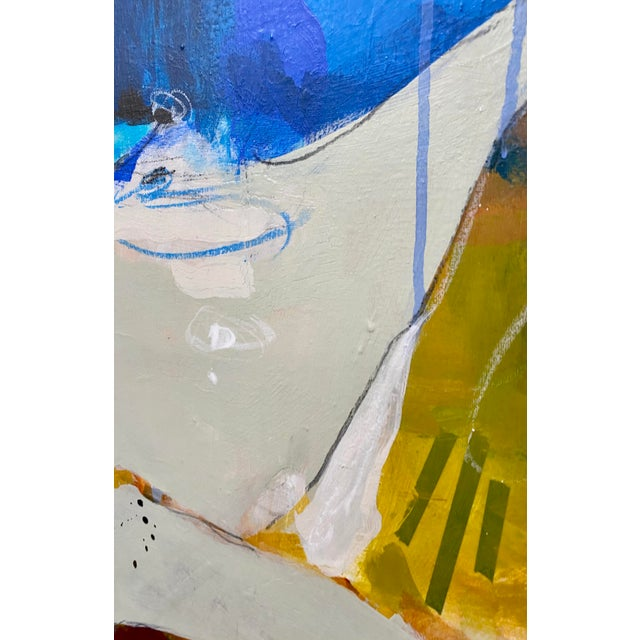 """Canvas """"Bigger on the Inside"""" Original Mixed Media Painting by Gina Cochran For Sale - Image 7 of 9"""