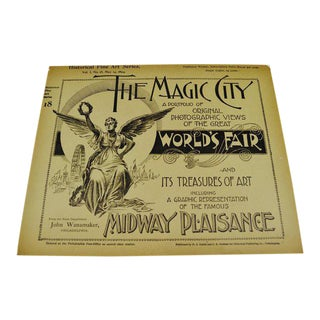 1894 Chicago World's Fair Magic City Illustrated Photo 19 Volume Book Collection For Sale