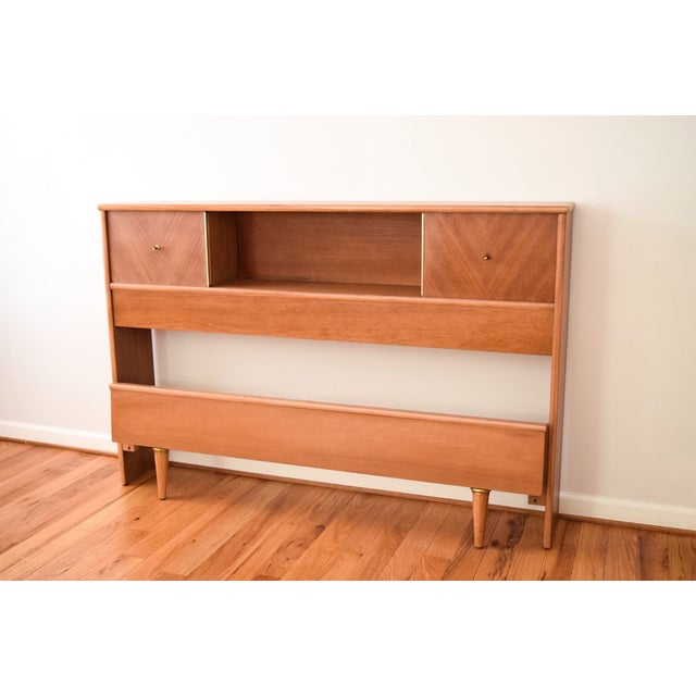 Mid-Century Kent Coffey Debonaire Headboard & Bed - Image 3 of 10