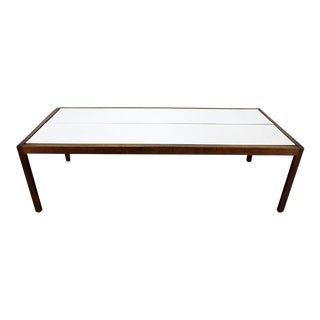 Lewis Butler for Knoll Walnut & White Laminate Coffee Table For Sale