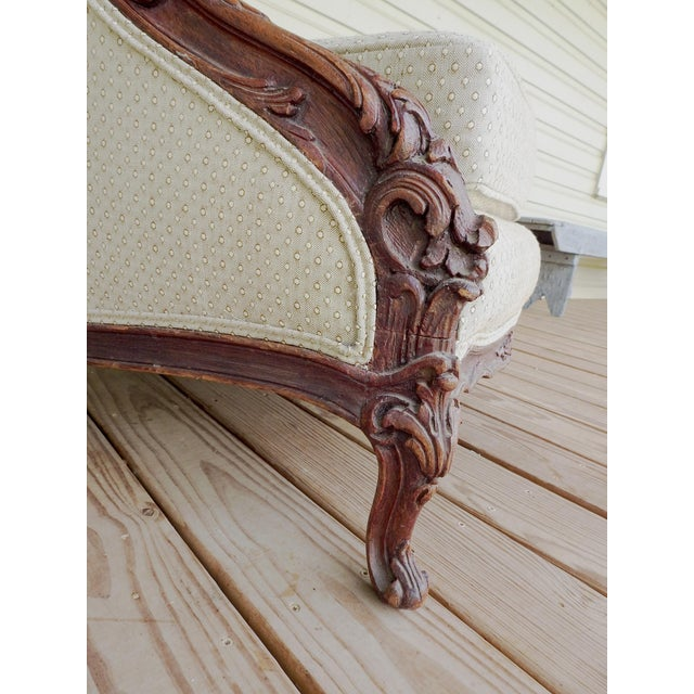 Early 20th Century Vintage Rococo Carved Bergere Chair For Sale - Image 5 of 13