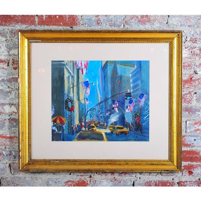 """Downtown Manhattan 4th July,"" Oil Painting - Image 2 of 10"