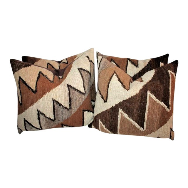 Geometric Handwoven Indian Weaving Pillows For Sale