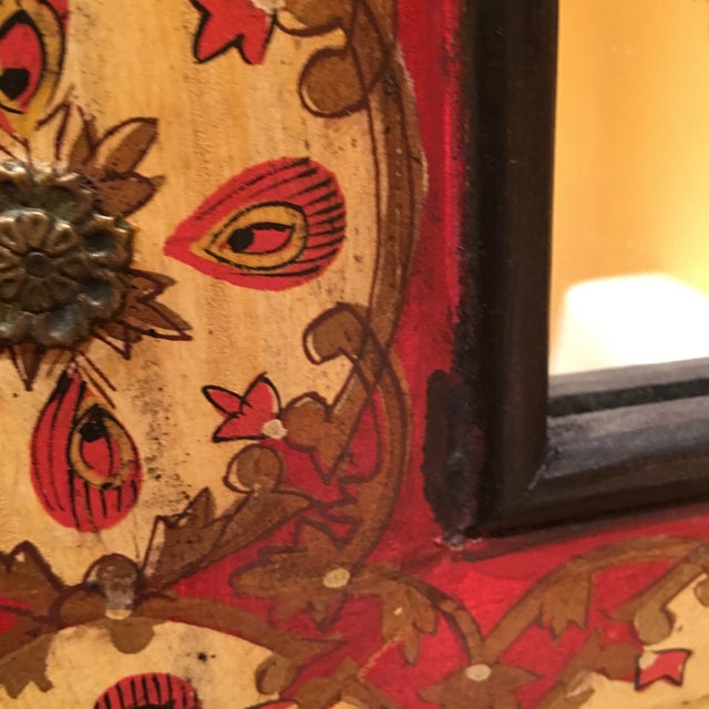 Spanish Style Red Mirror - Image 4 of 7