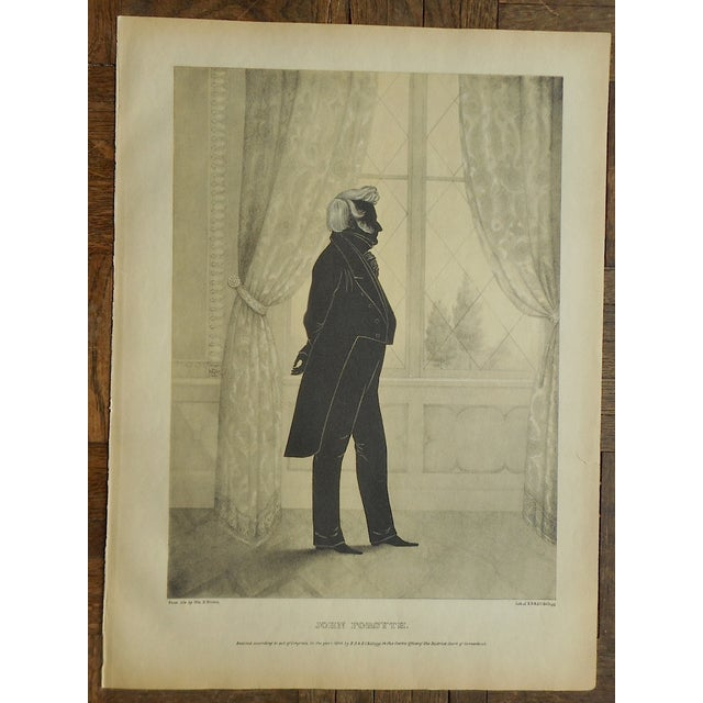 Antique Folio Size Silhouette Lithograph - Image 2 of 3