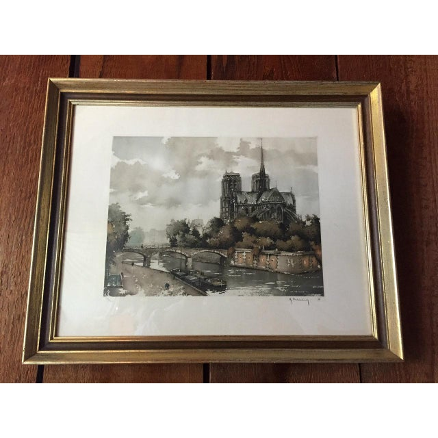 Etching of Notre Dame - Image 2 of 7