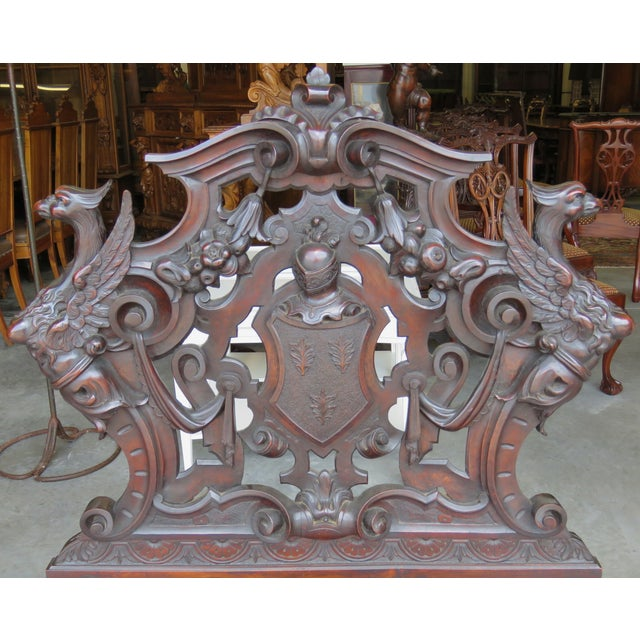 Italian 19th C. Horner Style Figural Carved Bench - Image 3 of 9