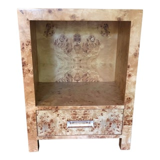 Contemporary Burlwood Worlds Away Winnie Side Table For Sale