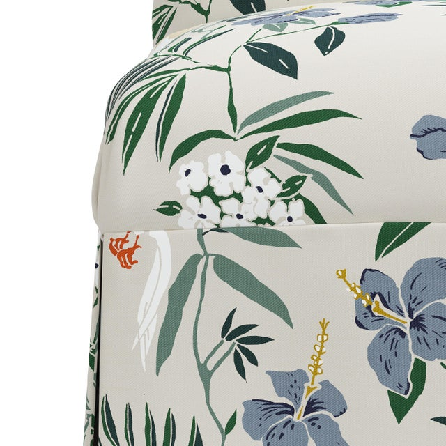Not Yet Made - Made To Order Slipcover Dining Chair in Belize Chinoiserie Cream For Sale - Image 5 of 8