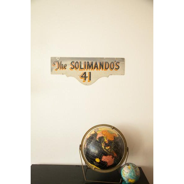 Vintage Deco Double Sided House Sign Solimando's - Image 6 of 7