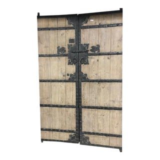 Antique Chinese Pine Garden Entry Gates For Sale