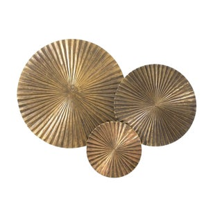 Wooden Circles Wall Sculpture - Set of 3 For Sale