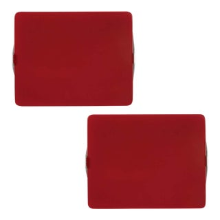 Charlotte Perriand Red Cp1 Wall Lights - a Pair For Sale