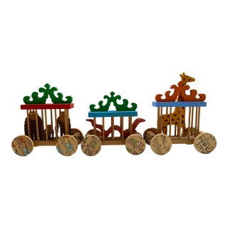1970s Hand Made Circus Train Toy For Sale