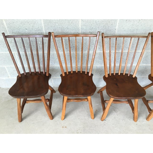 This is a set of 6 Hunt Country Furniture birdcage style side chairs/dining chairs. The pieces are made of oak and have...