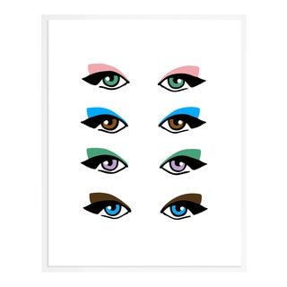 Eyes by Angela Blehm in White Framed Paper, Small Art Print For Sale