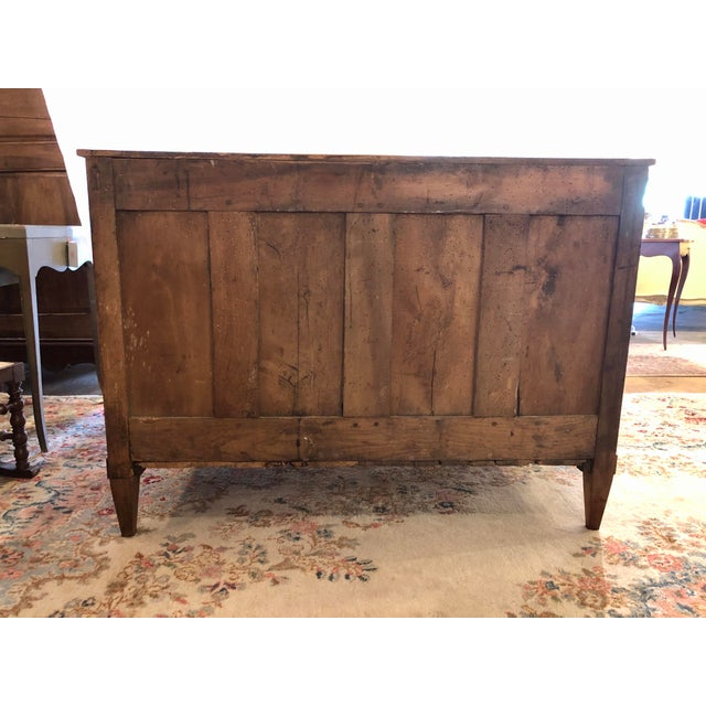 Brown Louis XVI Period 3 Drawer Mahogany Chest For Sale - Image 8 of 10