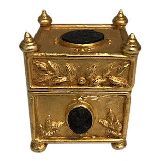 Gold Plated Coin Box For Sale